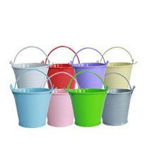 Pink mini tin buckets ONLY $1.50 www.sweetlittlesoiree.com.au