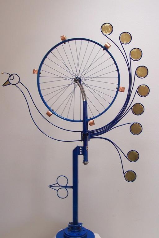 Garden Wind Sculpture Bicycle Wheel   Bing Images