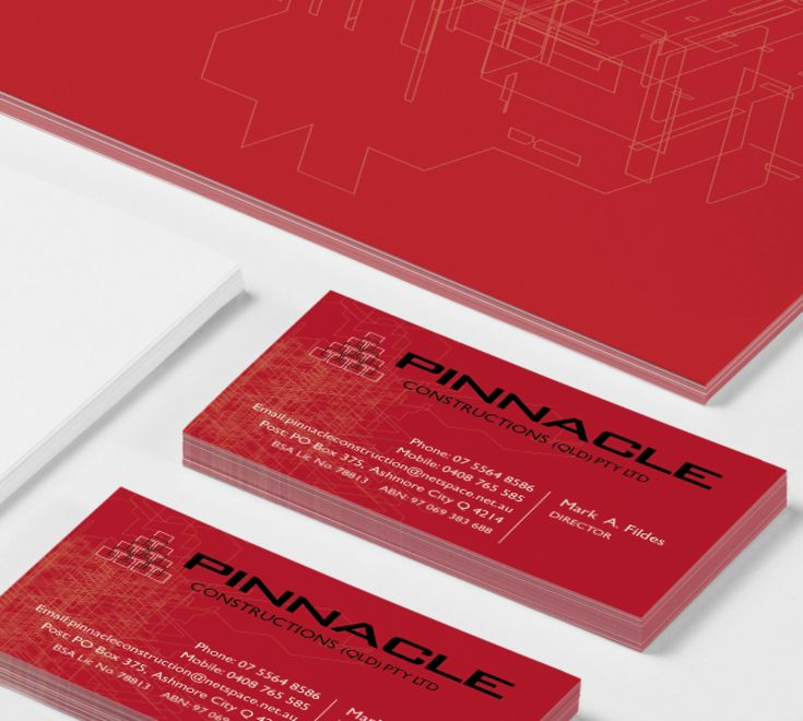 Pinnacle Construction - logo and business cards by RIS Designs www.risdesigns.com.au