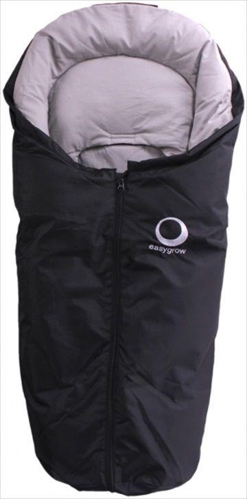 EASYGROW 'Mini' Bilstolpose - Black/svart. Høykvalitets sovepose som passer de fleste bilstoler og kan brukes som vognbag/reisebag. Perfekt til nyfødte og som sovepose for prematurfødte barn.Easygrow bruker ingen giftige eller helseskadelige flammehemmere! En av de lengste bilstolposene og mest funksjonelle på markedet. Kr 799