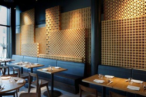 Wood Lattice wall, Bibigo - Central design studio