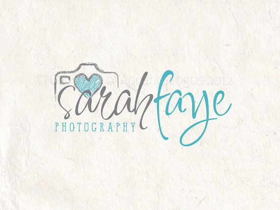 Premade Photography logo design and logo by AquariusLogos on Etsy, $19.00
