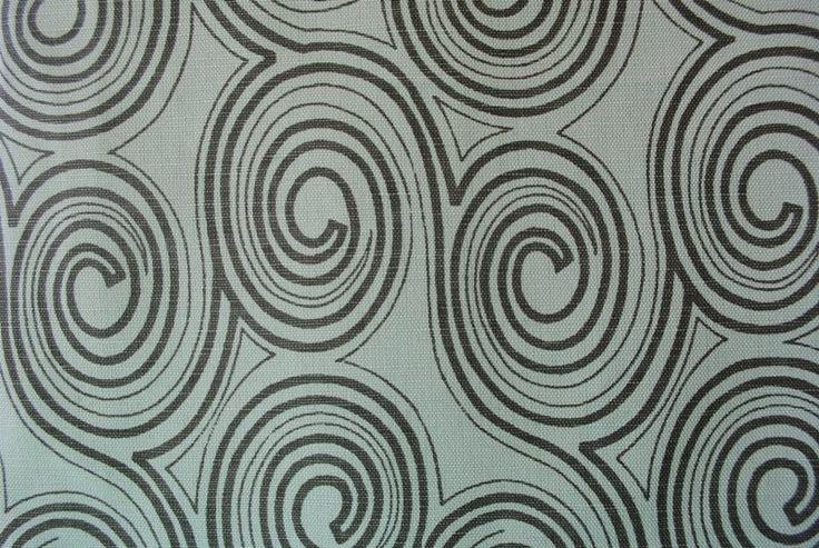 Spiral Sensation Shadow Pond linen/cotton blend - 137cm