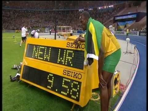 Usain Bolt new 100m world record: 9.58!!! - YouTube