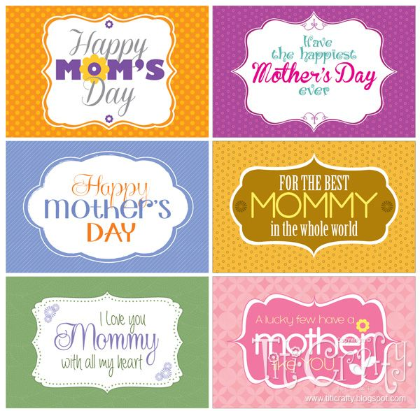 TitiCrafty: Giving Some Love! Mother's Day FREE Printable Tags