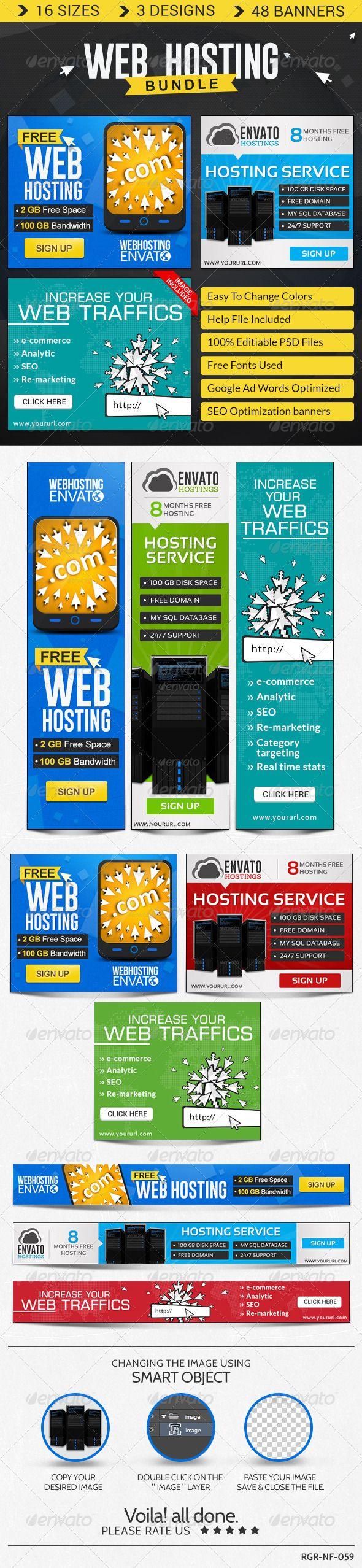 Web Hosting Banner Bundle - 3 Sets Template PSD | Buy and Download: http://graphicriver.net/item/web-hosting-banner-bundle-3-sets/8621539?WT.ac=category_thumb&WT.z_author=BannerDesignCo&ref=ksioks