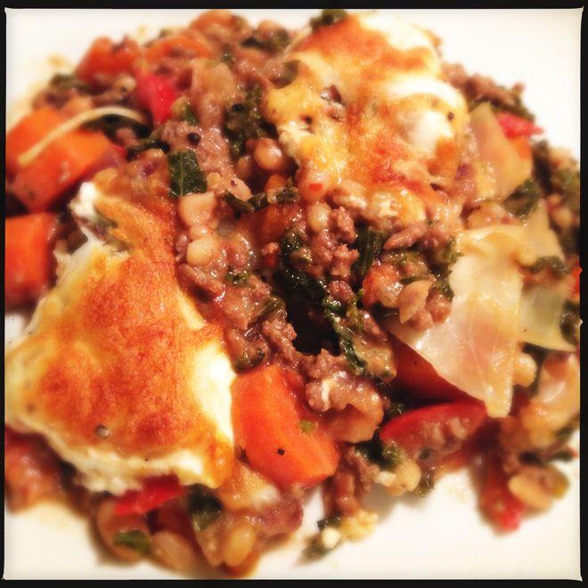 Skøn ovnbagt oksekød, proppet med lækkert kål, med kun 76 kalorier pr. 100g