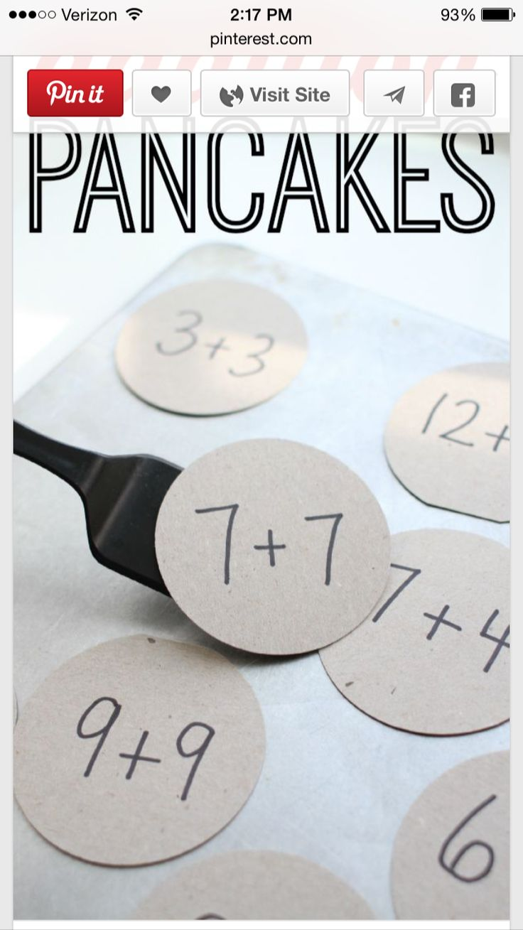 Use with reg numbers for preschoolers