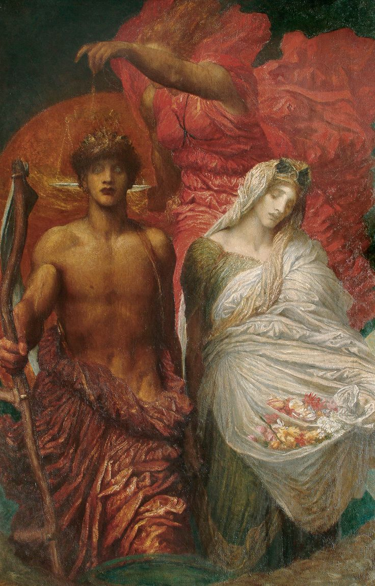 George Frederic Watts OM RA, Time, Death and Judgement, Oil on canvas, late 1870's-1896 ©Watts Gallery