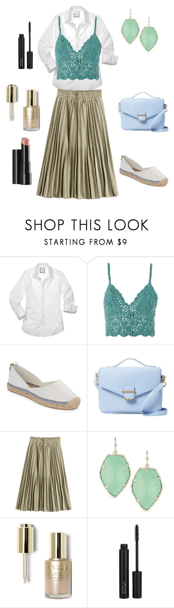 """""""Shirt + Bralet"""" by april-1884 ❤ liked on Polyvore featuring Topshop, French Connection, Cynthia Rowley, Kendra Scott, Arbonne and Stila"""