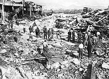 Piraeus, Greece after a German bombing on the first day of the German attack on the northern Greek border (April 6, 1941)