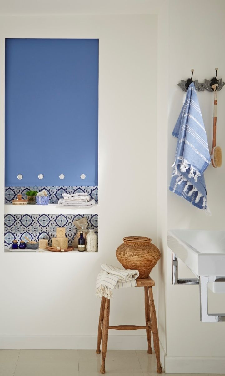 Roller blinds for bathrooms uk -  Tiles With Natural Materials And Fibres With Accents Of Colour Keep The Main Part Of The Interior Neutral Waterproof Made To Measure Roller Blinds