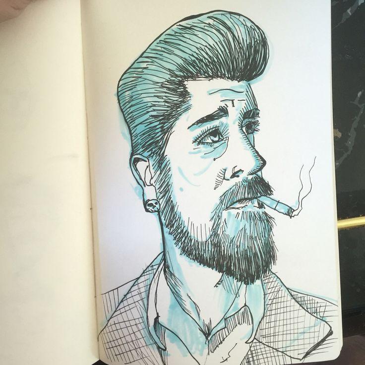 100 stylized portraits number 38!-Matt Fontaine