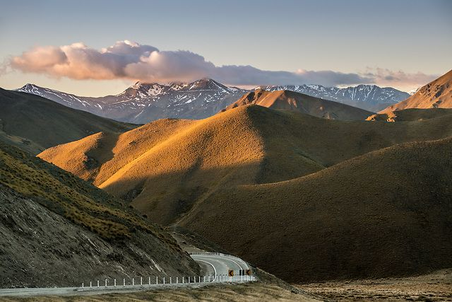 Photographic Print   Lindis Pass at sunset, Central Otago, New Zealand : Sisson
