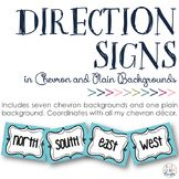 3rd Grade Thoughts: Cardinal & Ordinal Direction Signs: Chevron