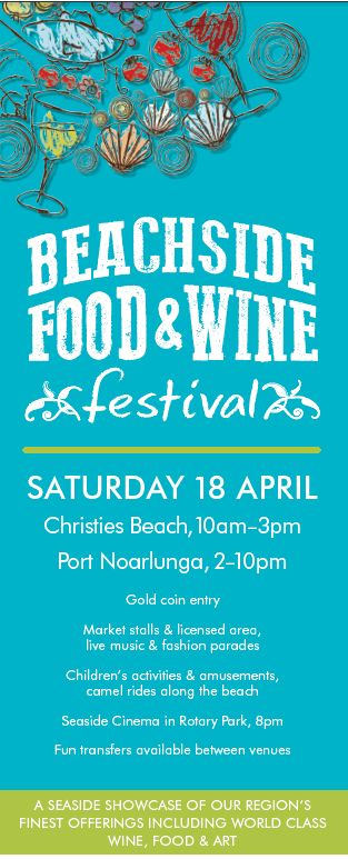 The festival this year will be held over two locations, Christies Beach and Port Noarlunga, with  Read More... Event Location: Christies Beach, 10am-3pm Port Noarlunga, 2-10pm