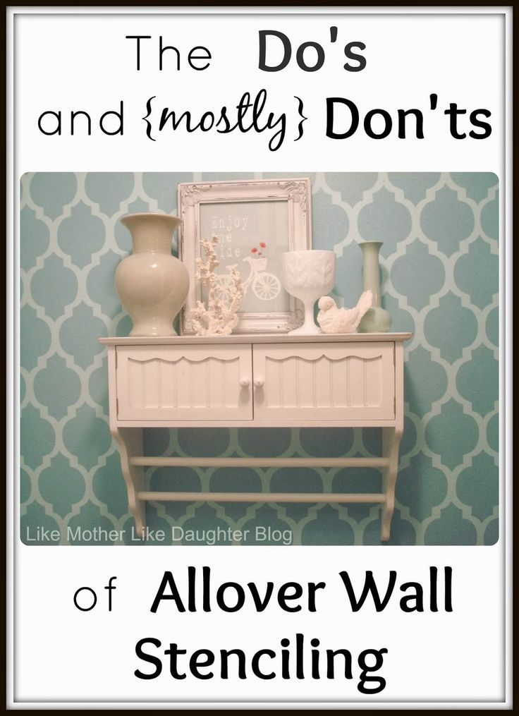 Like Mother Like Daughter: Allover Wall Stenciling