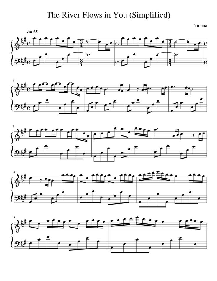 All Music Chords sheet music for river flows in you : 19 best sheet music images on Pinterest | Sheet music, Free piano ...