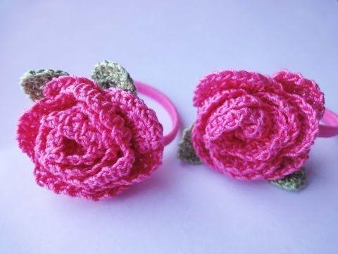 """Украшение для волос """"РОЗА"""" Hair decoration """"ROSE"""" Crochet"""