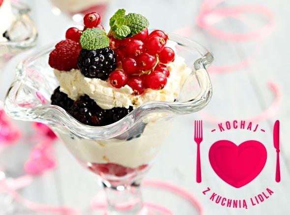 Jagodowe mascarpone- propozycja Kuchni Lidla na Walentynki