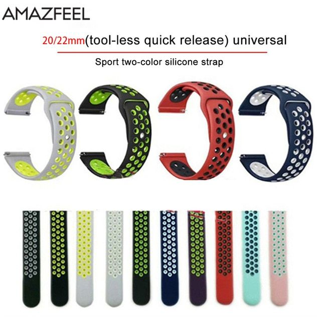 Silicone Sports Band For Xiaomi Huami Amazfit Bip Pace Amazfit Stratos 2 Smart Watch Band Replacement Wristband Smart Watch Watch Bands Xiaomi