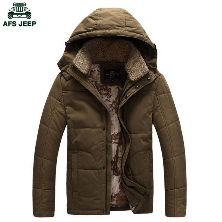 Afs джип меховой воротник настоящей мужской меховой воротник толщиной зимние пальто, Высокое качество настоящая мужская куртка с капюшоном, Открытый брюки-карго пальто новый пиджак