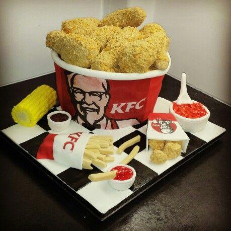 Kfc cake | birthday party theme | Pinterest | KFC, Cake ...
