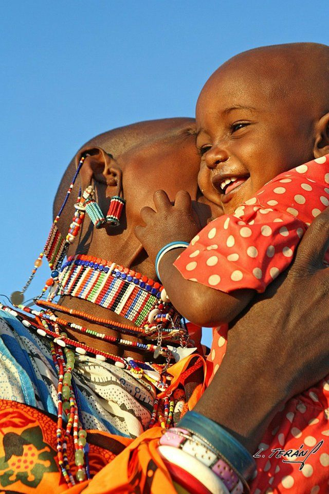 So touching. Africa | 'I was visiting the Lenkisem Mission in Kenya where I used to work as a volunteer missionary. The Maasai girl called Rose and she was happy to reunite with his mother.' | Image and caption © Laura Terán Eric Burr via Shaheen Janoowalla