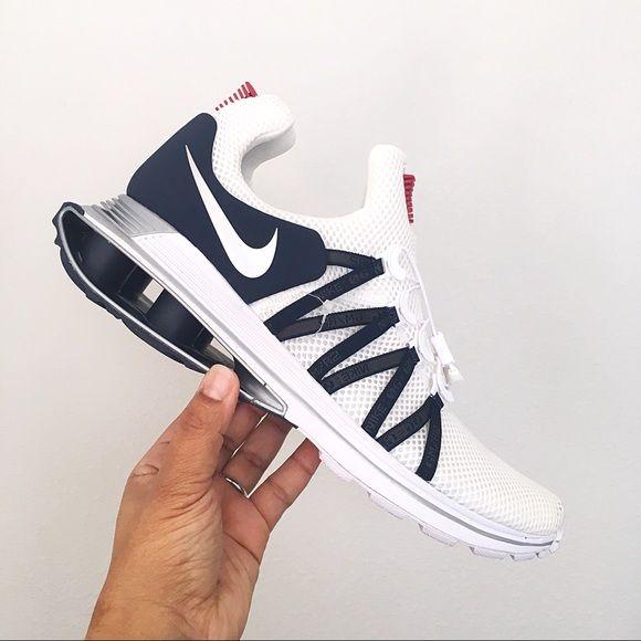 Men's Nike Shox Gravity Red White Blue