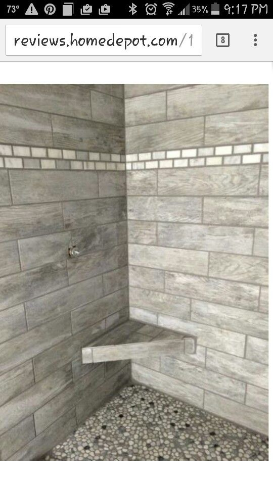 Porcelain Tiles Home Depot: MONTAGNA DAPPLE GRAY 6 IN. X 24 IN. Shower Idea Maybe