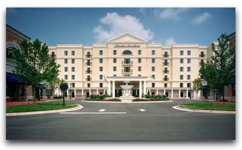 Hampton Inn - Phillips Place Charlotte...Movie Theater walking distance... Very nice!!!