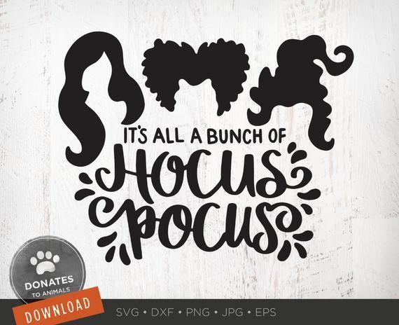 Hocus Pocus Svg Sanderson Sisters Svg Witches Hair Cute Etsy Hocus Pocus Quotes Cricut Cute Halloween
