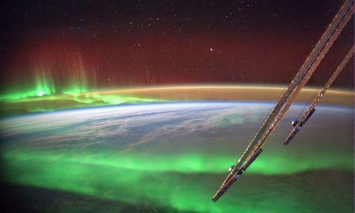 Aurora-Durchflug, Alexander Gerst, ISS