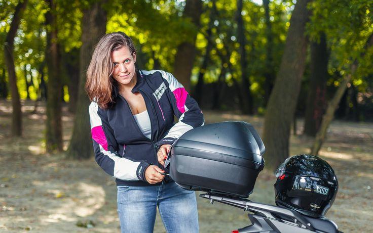 #fashion #bikergirl #sixgear #motorcycle #topcase #givi #adventures