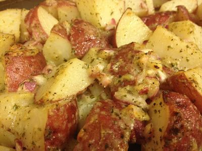 Roasted red potatoes dry ranch dressing