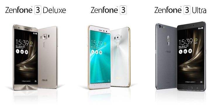 Asus ZenFone 3, ZenFone 3 Ultra y ZenFone 3 Deluxe anunciados oficialmente