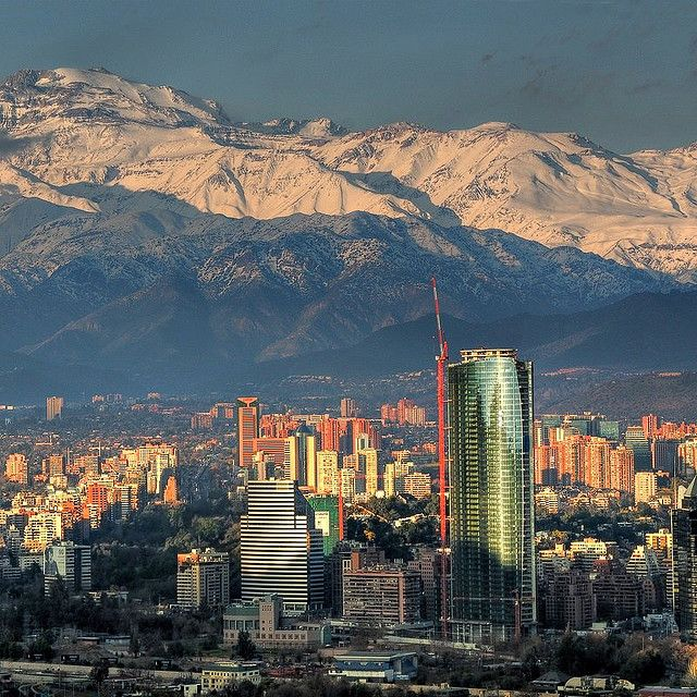 Santiago, Chile with the awesome Andes in the background