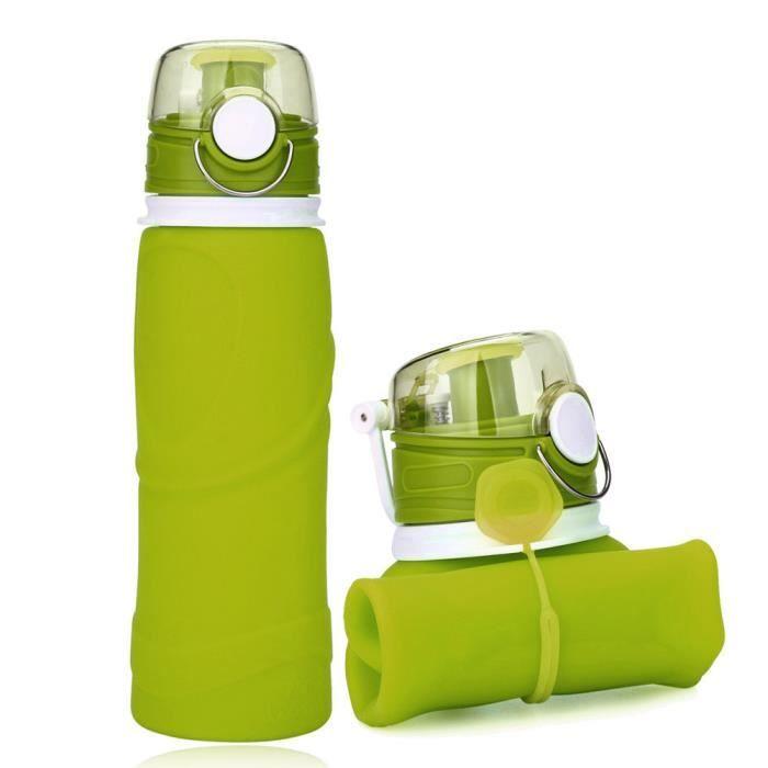 Élastiques en silicone Bouteille Sport Bouteille D/'eau Bouteille outdoor Water Bottle
