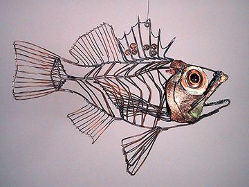 Thomas Hill wire sculpture - Scorpion Fish