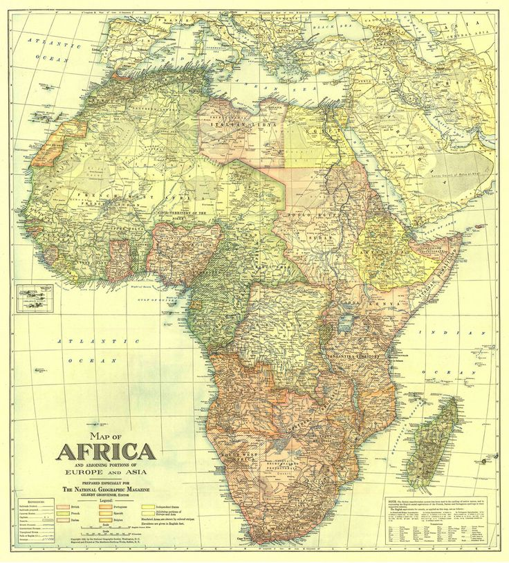 115 best old maps images on pinterest antique maps old cards africa and adjoining regions 1922 map sciox Gallery