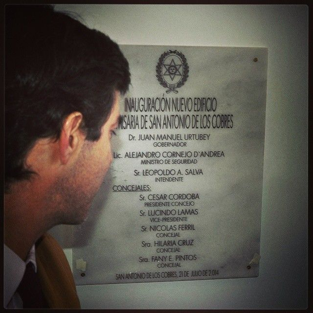 Inauguración de una nueva Comisaría en San Antonio de los Cobres