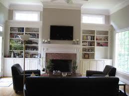 furniture around fireplace and tv