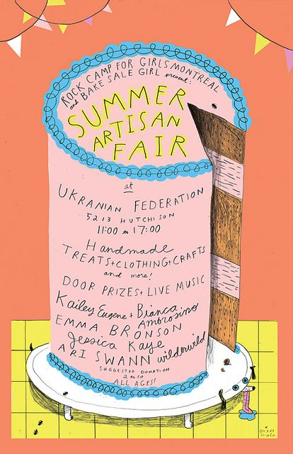 ARTISIAN FAIR POSTER by Ohara.Hale, via Flickr - so cool!