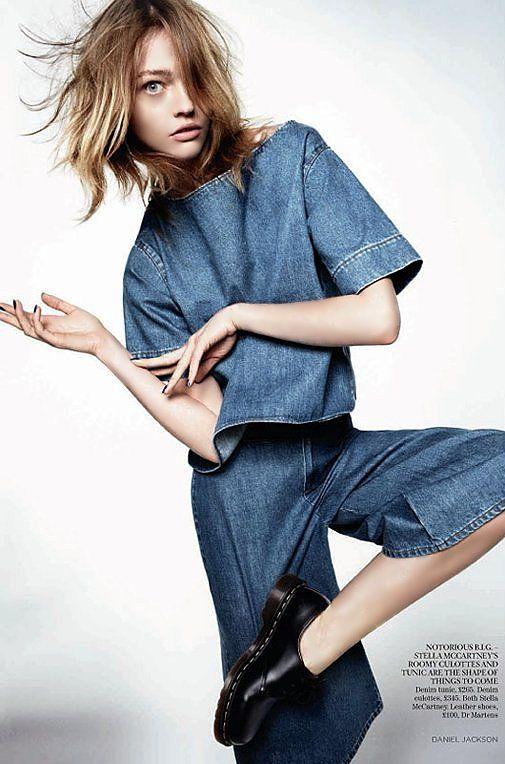 Sasha Pivovarova for Vogue UK by Daniel Jackson March 2011