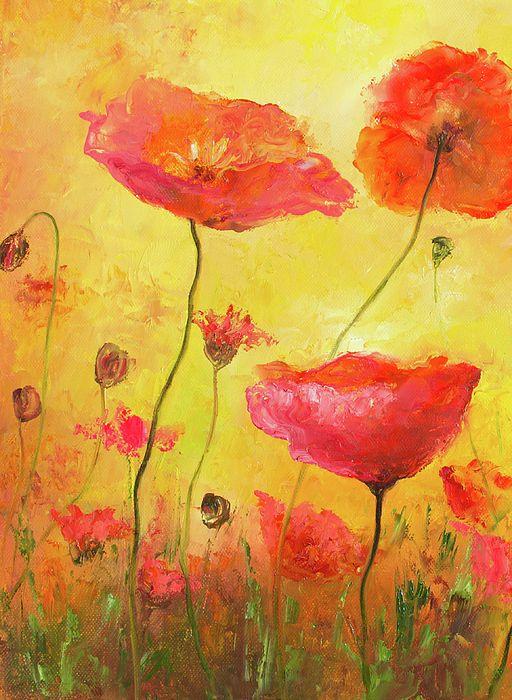 Poppy Delight!  #poppyart #flowerpaintings #poppies