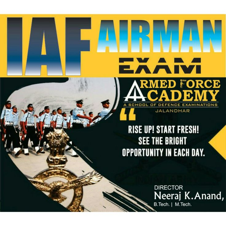 Airforce AiRman Group X exam coaching centre in jalandhar,. Call 9463138669. http://anandclasses.co.in