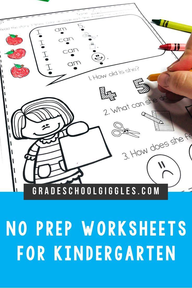 No Prep Kindergarten Worksheets For Back To School August And September Kindergarten Worksheets Back To School Activities Kindergarten Skills [ 1104 x 736 Pixel ]