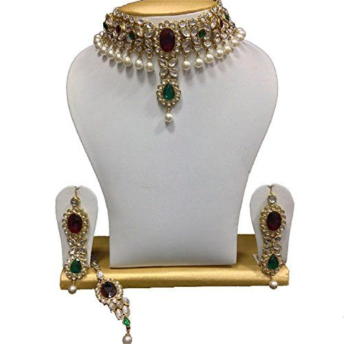 Traditional Indian Bollywood Kundan Ethnic Elegant Weddin... https://www.amazon.com/dp/B06XYFRZPG/ref=cm_sw_r_pi_dp_x_T3qjzbMC6AN2D