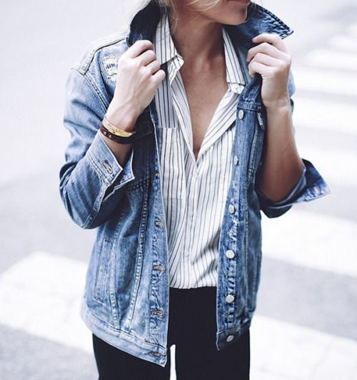 A denim jacket goes with just about everything.