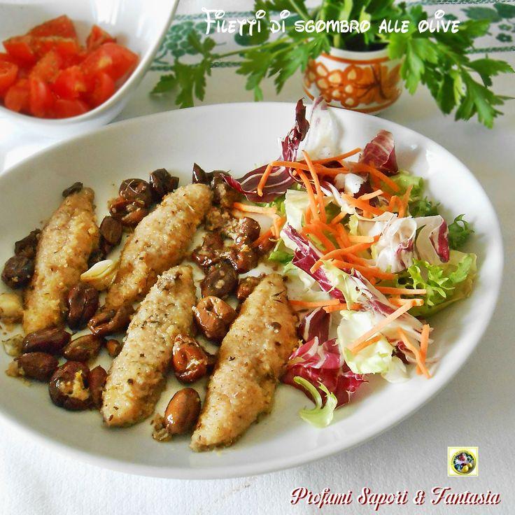 I filetti di sgombro alle olive sono un secondo di pesce stuzzicante e saporito. Una ricetta molto gustosa,semplice e veloce da preparare.